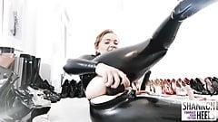 LATEX CLAD BUTT SLUT TRAINING - Shannon Heels