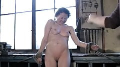 Hard frontal spanking