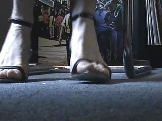 Deutche boobs Deutch friends feet and heels under the desk 1