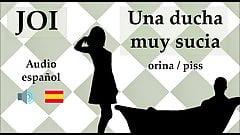 Spanish JOI con fantasia de orina y piss.