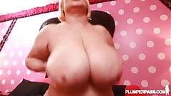 Sexy BBW Cougar Samantha 38G Fucks Stud Dildo Salesman