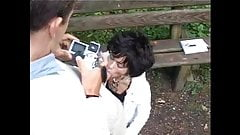HOT GIRL n123 french brunette teen in a parc