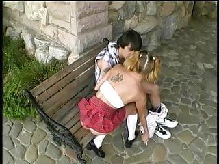 Teen play ground - Hot bitch plowed on park grounds