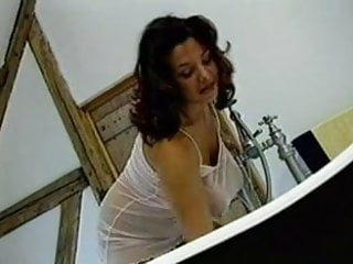 Fucked in the cornhole British busty milf gets fucked in the bathroom