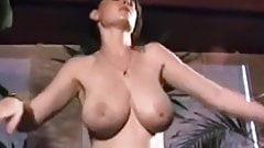 Vintage 80's big natural boobs striptease dance
