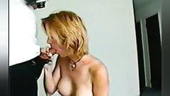 Big Boobed Italian MILF sucks cock