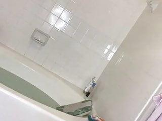 Naked big tit redhead video Heidi naked shower