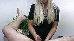 Prostate handjob femdom