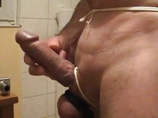 Rubber panties cumshot Bonded cock fucking a very tight rubber pussy and a slop of cum
