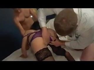 Amateur video wife has unexpected threesome - Amateur mature wife has threesome and cumshots