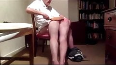 Over the knee for a bottom spanking