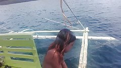 Filipino Nudist Couple .. Nude boat trip