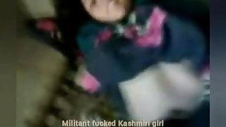 Kashimri Muslim girl fucked by muslim militant people