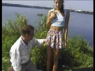 Tiny amateur skinny fuck - Tiny skinny teeny twat fucked outdoors