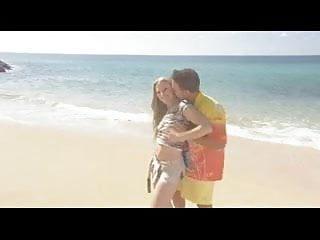 Blonde getting anal fucked Blond long-haired beauty gets anal fucked on the beach