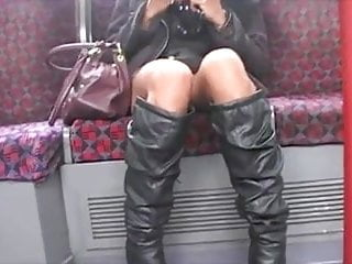 Best underground porn Upskirt asian pussy on london underground