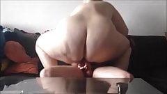 Blonde BBW fucks in private Sextape