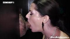 Slutty StepMom Sucking Cocks In Epic GloryHole