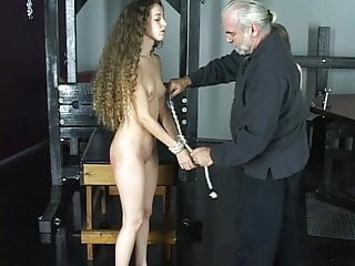 Micro nikkor lens strip - Master len loves watching his beautiful brunette slave girls whip and torture