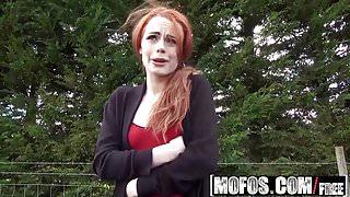 Mofos - Stranded Teens - British Redhead Sucks Cock starring