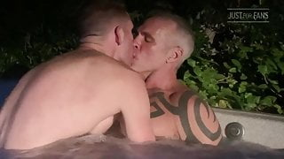 Daddy D in a hot tube with Boy S