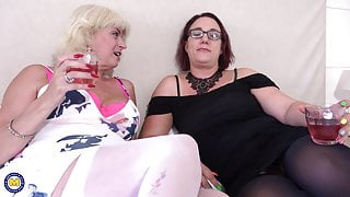 Mature mothers try lesbian sex