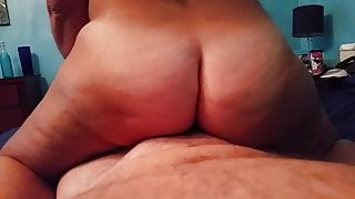 Pawg phatty smothers his dick