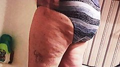Mature wife Rose voyeured drying off