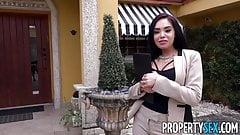 PropertySex - Familiar looking Latina agent fucks client