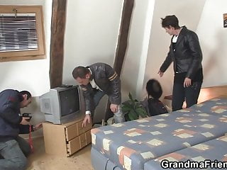 Granma tgp - Hot granma takes two cocks after photosession
