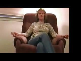 Mature amateur strip and masturbate Mature strips on chair
