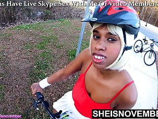 Skinny black girl riding hudge dick Take off my panties standing up in slow motion to ride dick
