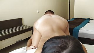 Pussy eating in doggystyle