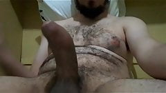 BIG HAIRY CURVED UNCUT LATINO COCK DANCING