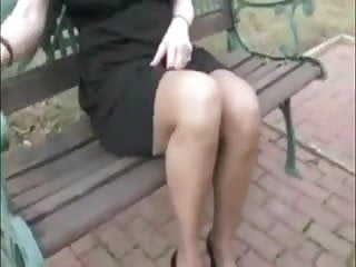 Mature stoching upskirt Wife with the surprise of sperm