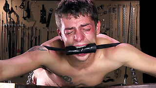 Young Twink Jacob Wolf Cums in Bondage After Brutal Whipping