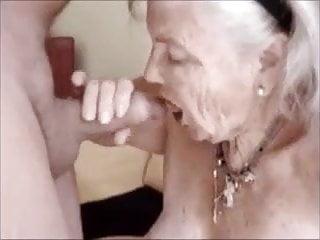 Grandma sucking fucking Big grandma sucking dick and get cum in mouth