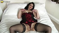British amateur mother getting naked and naughty
