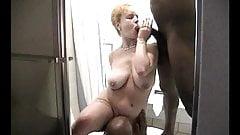 Tonya having a good time in the tub