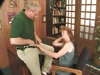 Nipple penetration Granny and grandpa in love