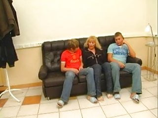 Young teens with two guys Redhead mom in stockings fucked with two guys