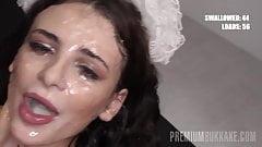 PremiumBukkake - Kate Rich swallows 85 huge cumshots