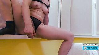 Caught Step Sister Masturbating After School