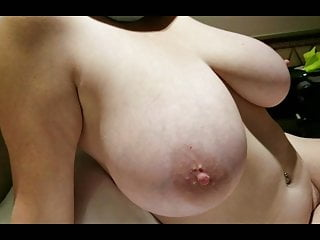 Front side back nude view Side bobs view of lateshay 38hh natural tits