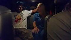 Nurse fucked on the backseat