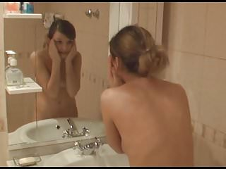 Cute blond teen gives blowjob - Super cute teen gives blowjob in the bathroom