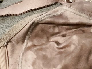 Cum stained panties for Moms well cum stain bras