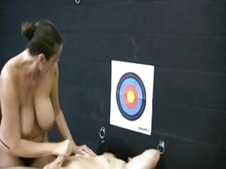 Cum targets - Miss moon hits the target with his semen by wf