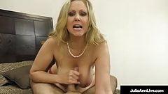 Busty Julia Ann Gives Boobjob And Footjob To A Hard Cock!