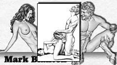 Erotic Drawings of Marc Blanton - Nymphs and Satyr 2